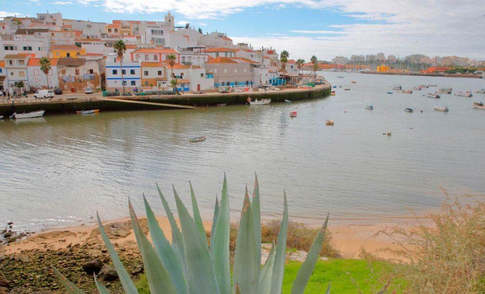 Algarve Dorp Aan Kust