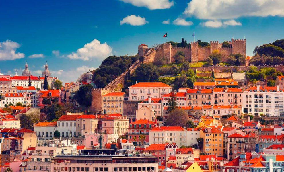 Lissabon Kasteel Stad
