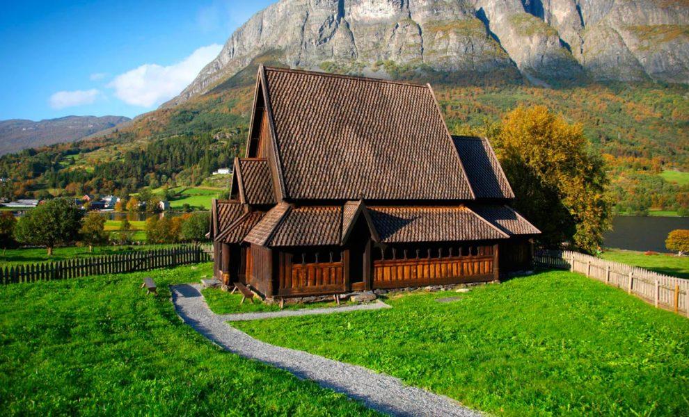 Noorwegen Oud Noors Huis