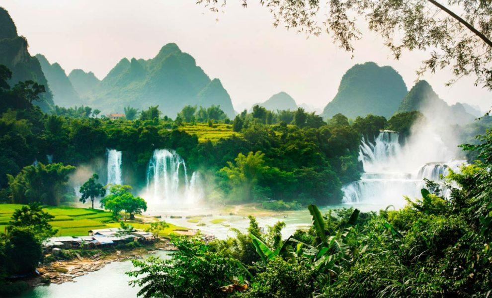 Vietnam Watervallen Natuur